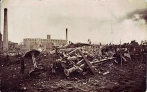 Aufnahme eines Explosionsunglücks in Lille am 10.01.1916