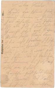 Heinrich Echtermeyer an seinen Bruder Bernhard Echtermeyer, Feldpostkarte vom 12. Juli 1917.