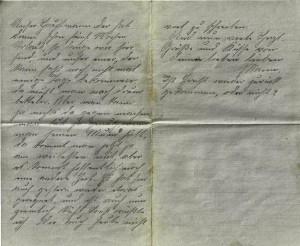 August Jasper an Bernhardine Jasper, Brief vom 7. Mai 1916.