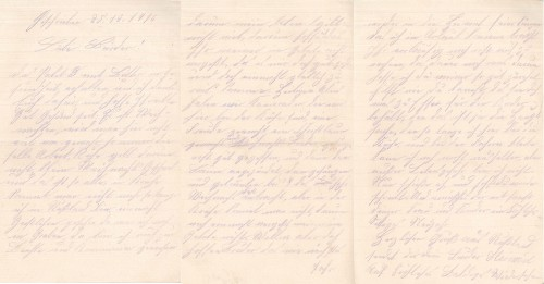 Heinrich Echtermeyer an seinen Bruder Bernhard Echtermeyer, Feldpostbrief anlässlich des Weihnachtsfestes 1916 (25. Dezember).