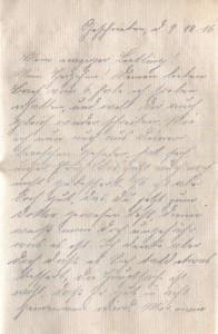 August Jasper an seine Frau Bernhardine, vom 9. Dezember 1916; erste Seite.