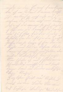 Heinrich Echtermeyer an seinen Bruder Bernhard, Feldpostbrief vom 25. Dezember 1916; Dritte Seite.