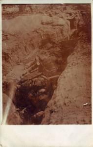 August Jasper an seine Frau Bernhardine Jasper, Feldpostkarte vom 25. Oktober 1915