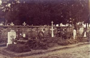 Aufnahme des Friedhofs von Livry, Oktober 1915.