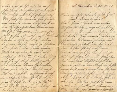 Brief vom 25. Dezember 1914_Seite_1
