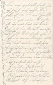 Brief Heinrich Echtermeyers an seinen Bruder, geschrieben am 26.3.1916. Seite 4